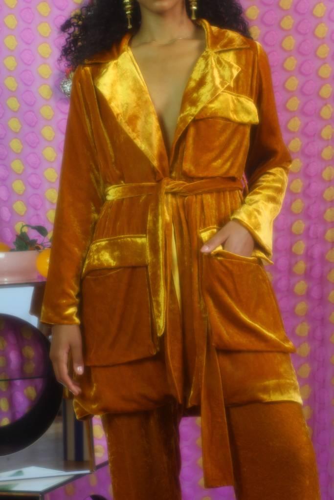 100% Silk Velvet Blazer