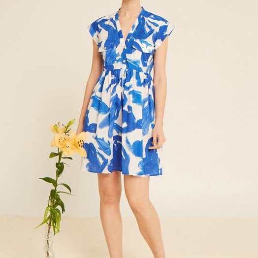 Heinui Neva Short Dress in Koi Print