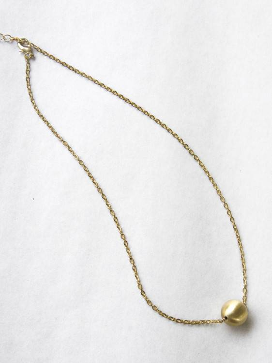 Common Muse Lou Ball Necklace, Matte Gold