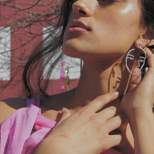 Sister Earrings Sterling Silver