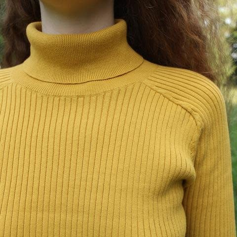 LF Markey Cotton Rib Polo Neck