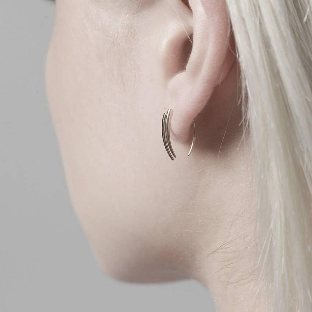Gabriela Artigas Infinite Tusk Earrings in 14K Yellow Gold