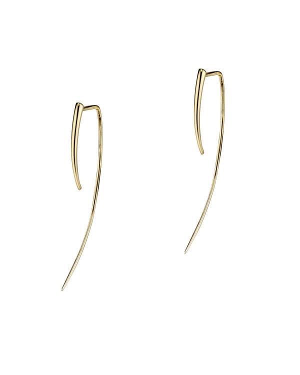 Gabriela Artigas 14k Yellow Gold XL Infinite Tusk Earrings