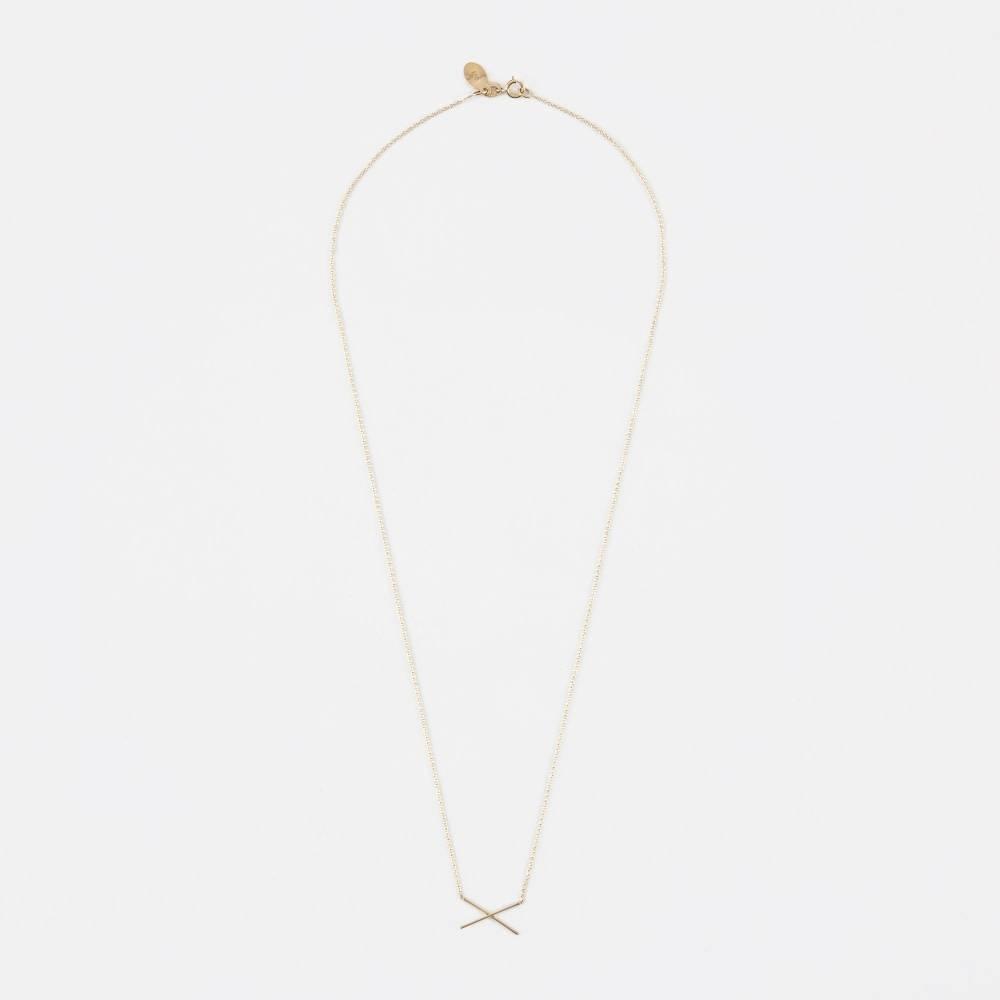 Gabriela Artigas 14K Yellow Gold X Necklace