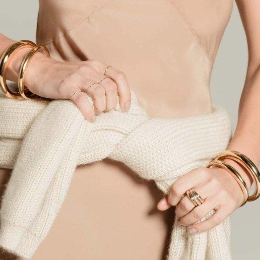 Gabriela Artigas Twin Tusk Cuff 14k Gold