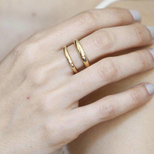 Gabriela Artigas Twin Tusk Ring in 14K Gold Size 6