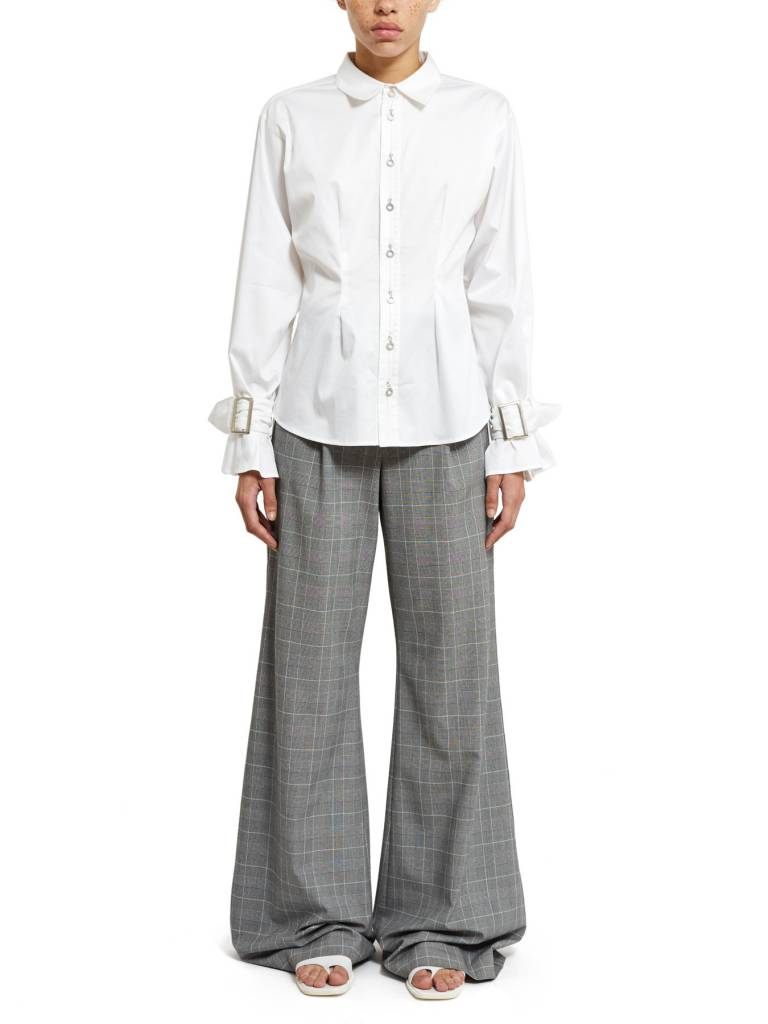Opening Ceremony Sateen Belt Cuff Shirt