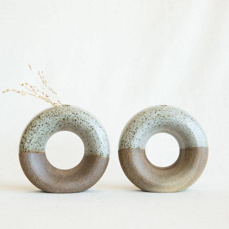 Lucy Michel Ceramics Lucy Michel Small Two Tone  Loop