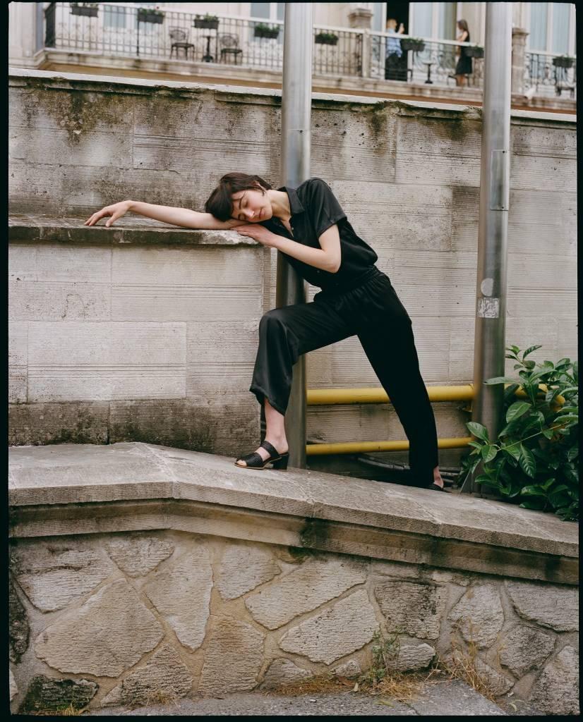 By Signe Black Silk Pants