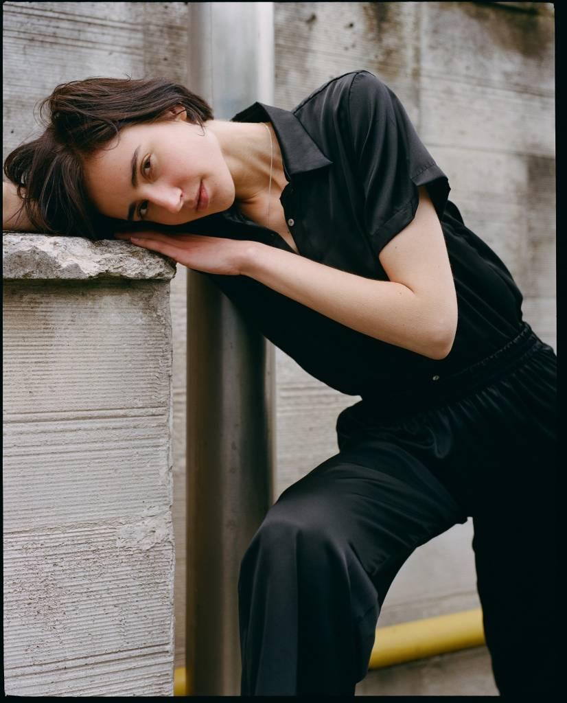 By Signe Black Silk Shirt