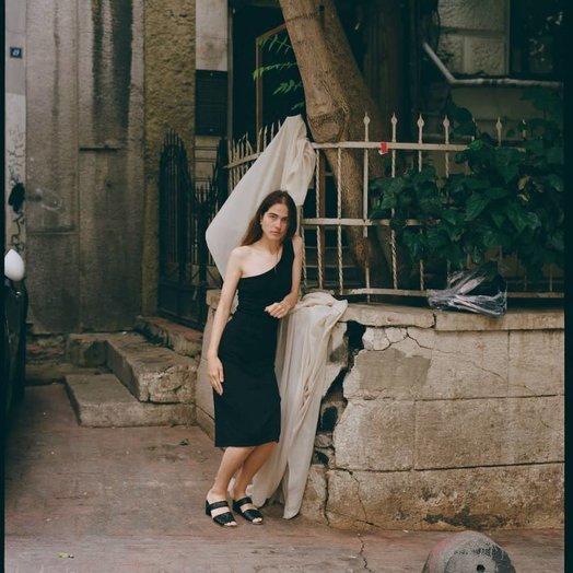 By Signe One Shoulder Top Dress Black