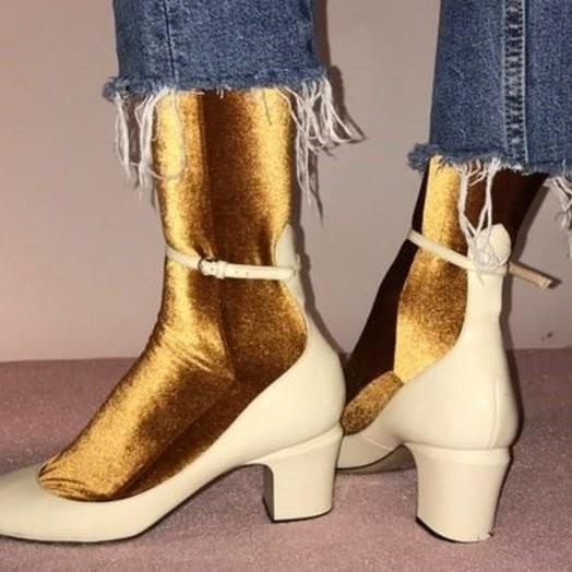 wild knottings Velvet Socks Gold