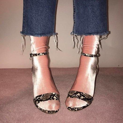 wild knottings Velvet Socks Pink