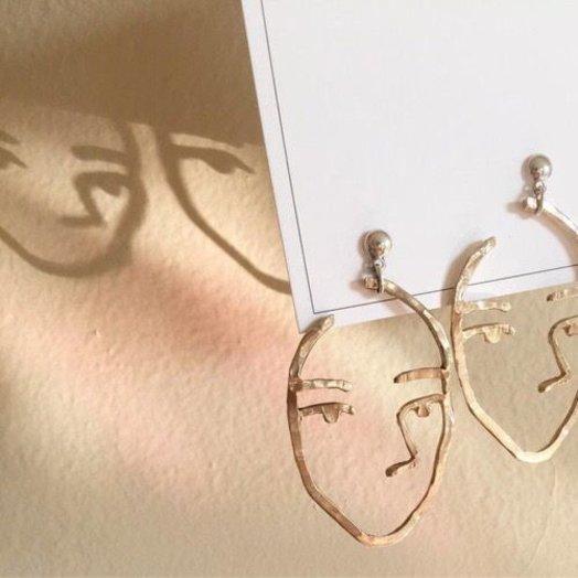 Open House Projects Sister Earrings Sterling Bronze
