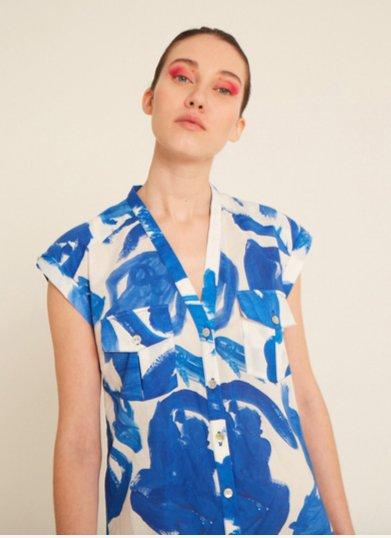 Heinui Ivy Shirt in Koi Print