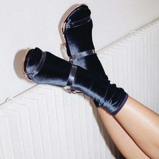wild knottings Velvet Socks Navy