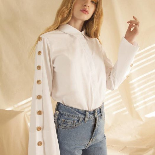 Tach White Eindhoven Linen Shirt