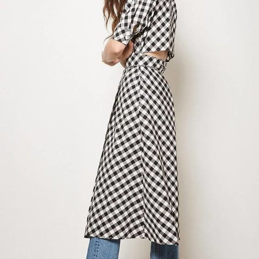 Habitual Luna Black and White Gingham Dress
