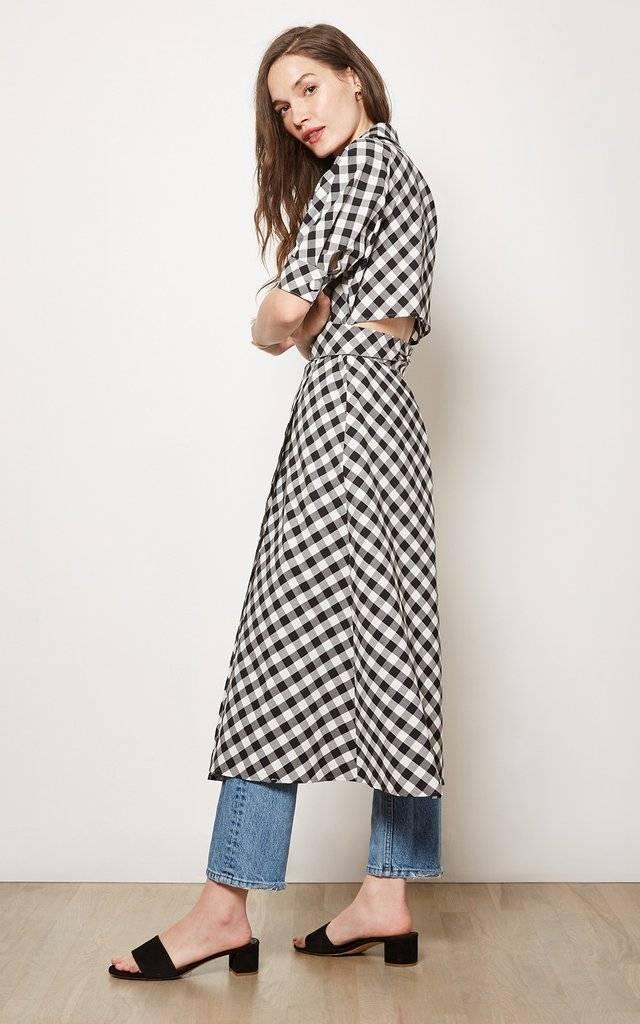 Habitual Black and White Luna Gingham Dress