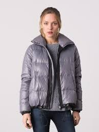 Margaret OLeary Down Puffer Coat Silver