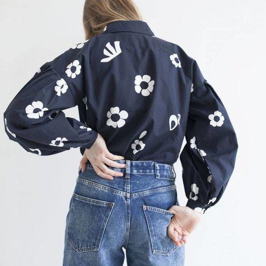 Mr Larkin Poppy Shirt, Girlflower Ink