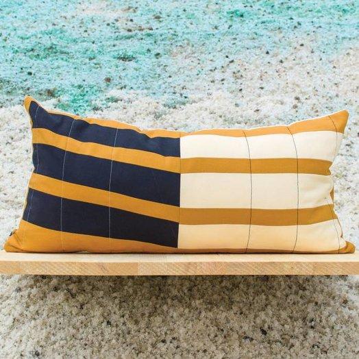 Ray Quilts Wisdom Gate Lumbar Pillow