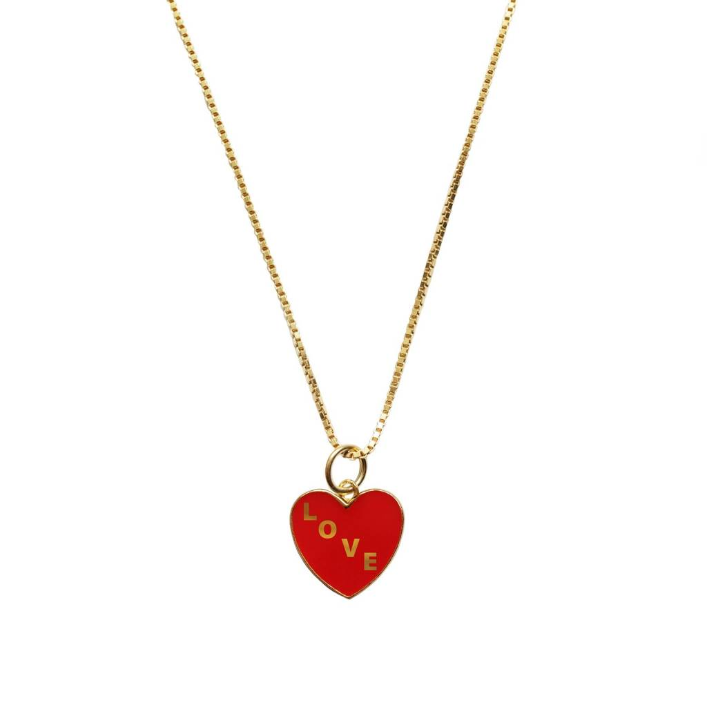 Georgia Perry Love Heart Charm with Short Chain