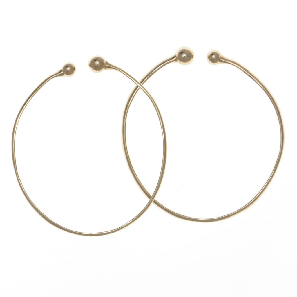 Castlecliff Inner Ear Hoop Brass