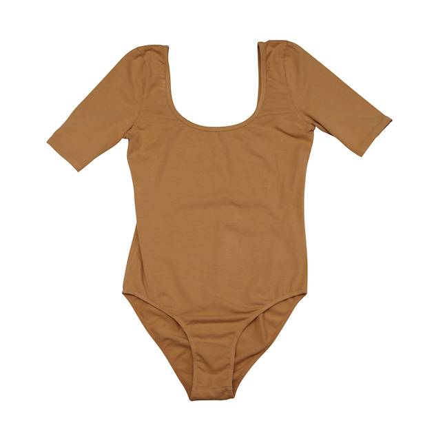 Nico Nico Woman Franklin Short Sleeve Bodysuit, Twig, Small