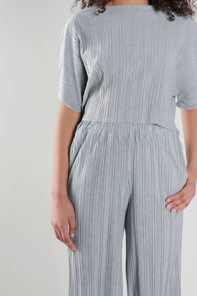 Native Youth Pleated Top, Grey