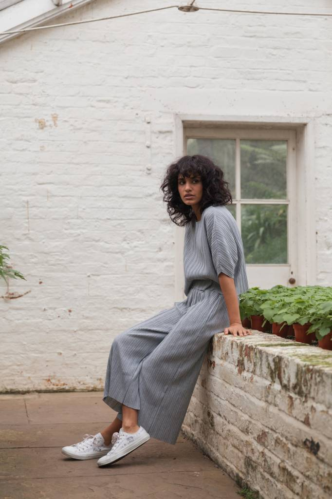 Native Youth Pleated Culottes Grey