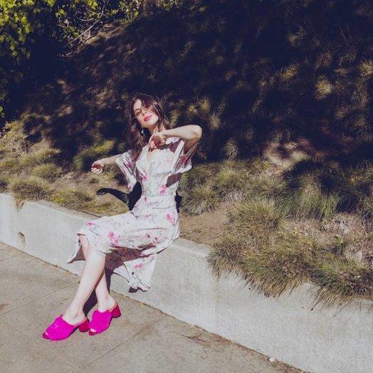 Kristinit Chloe Silk Rose Dress