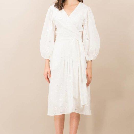 Kristinit Jade Dress White