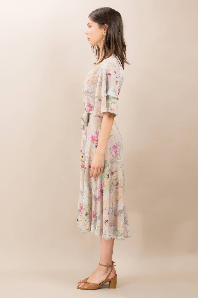 Kristinit Chloe Silk Rose Dress