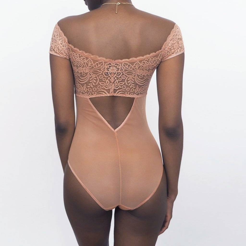 Thistle and Spire Marcy Keyhole Bodysuit Terracotta