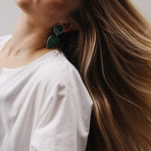 gala is love Aurora Earrings Malachite