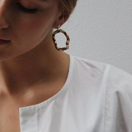 Open House Projects Open House Project Wavy Earrings Bronze