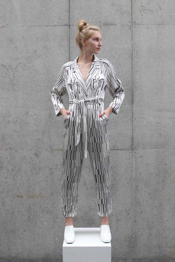 34N 118W Flatline Silk Jumpsuit