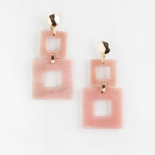 Valet Studio Toucan Earrings Pink