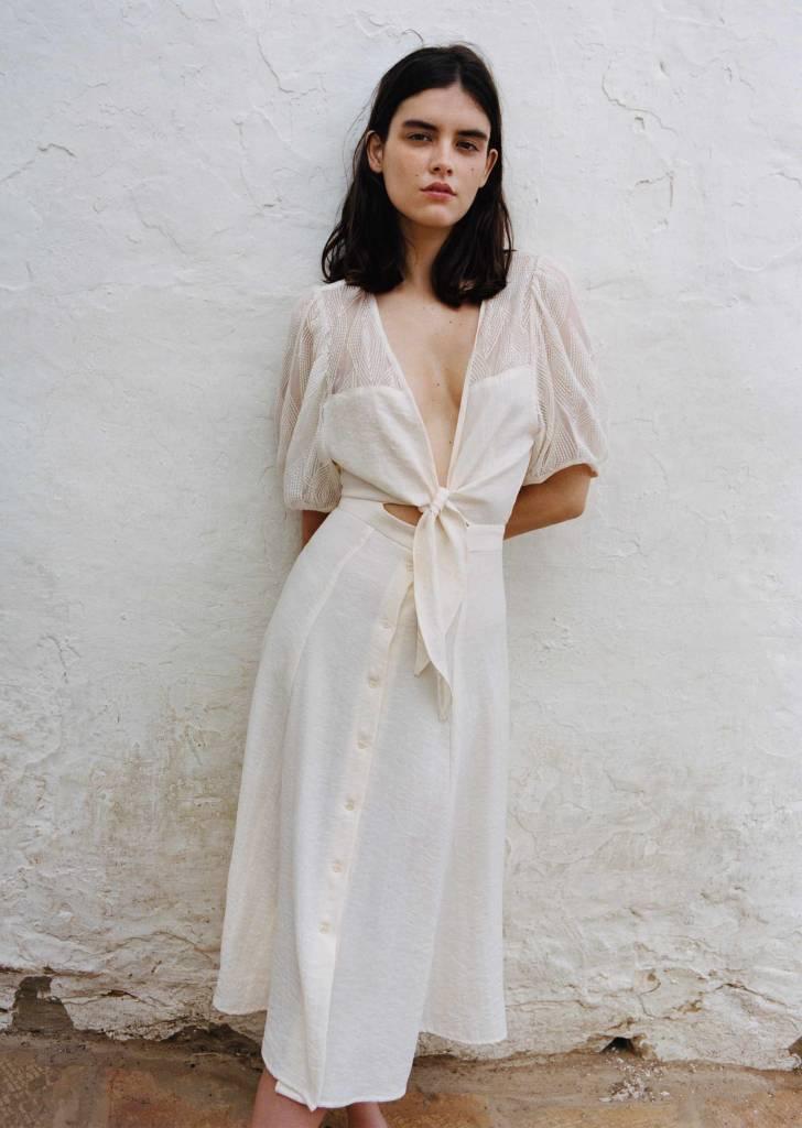 sessun Rosalie Top, White