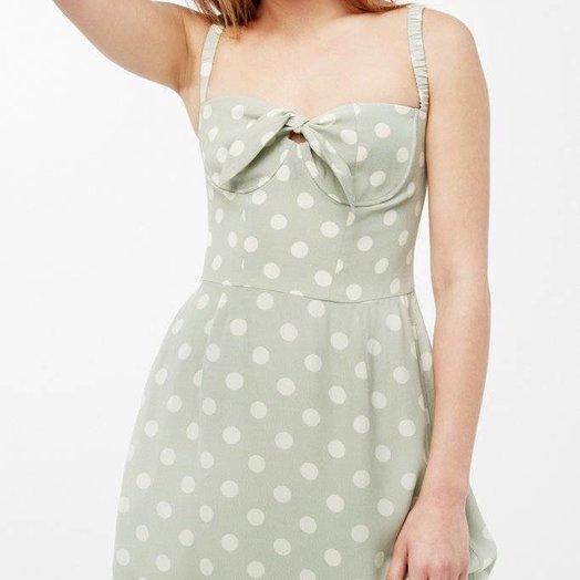 capulet Gabby Mini Dress, Polka Dot, Pistachio