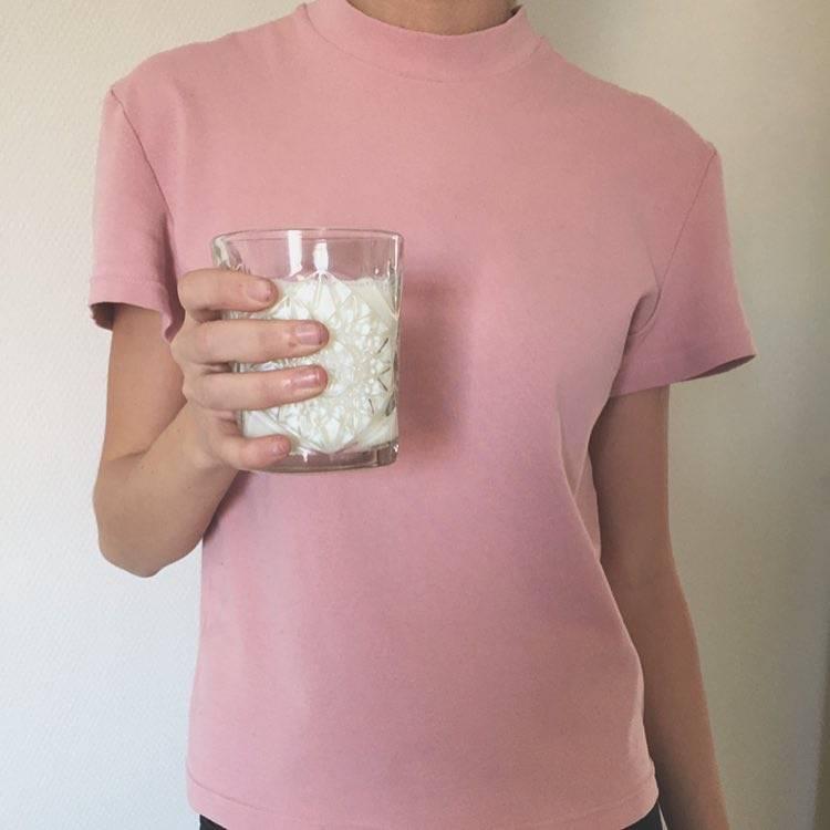 By Signe Silk Blend Tee, Pink
