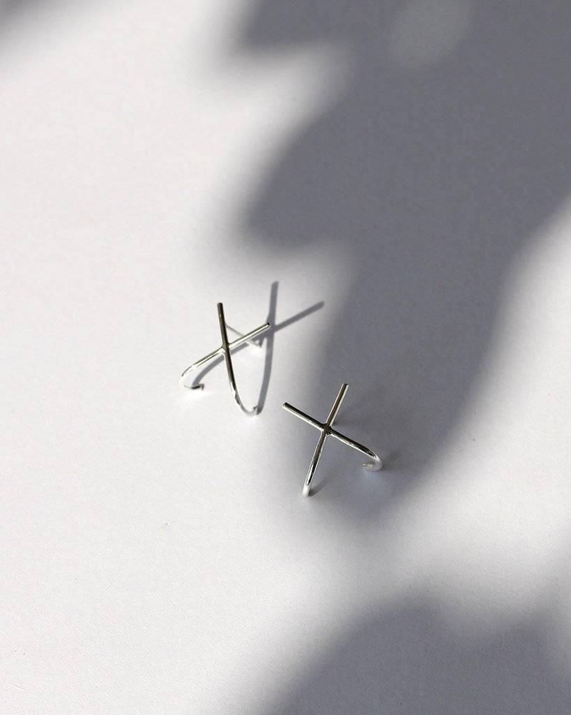 Knobbly Studio X Ear Huggers Silver