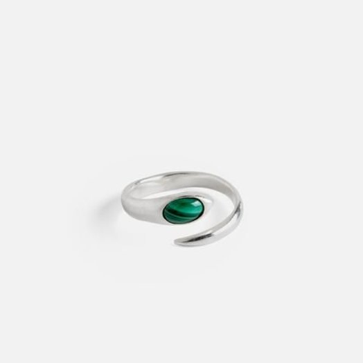Knobbly Studio Mayim Ring Malachite