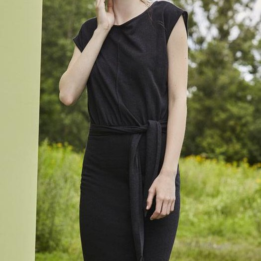 Eve Gravel Toi et Moi Dress, Black