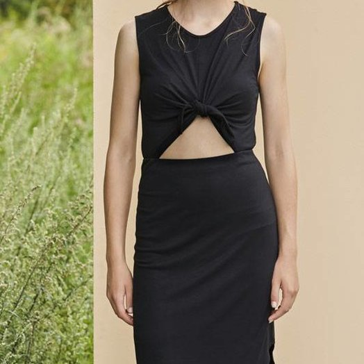 Eve Gravel Wildflower Dress, Black