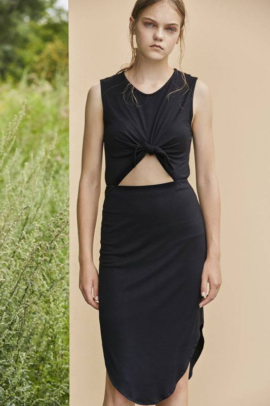 Eve Gravel Wildflower Dress, Black