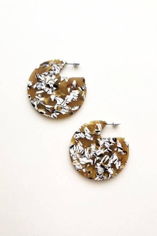Machete Clare Earrings in Calico