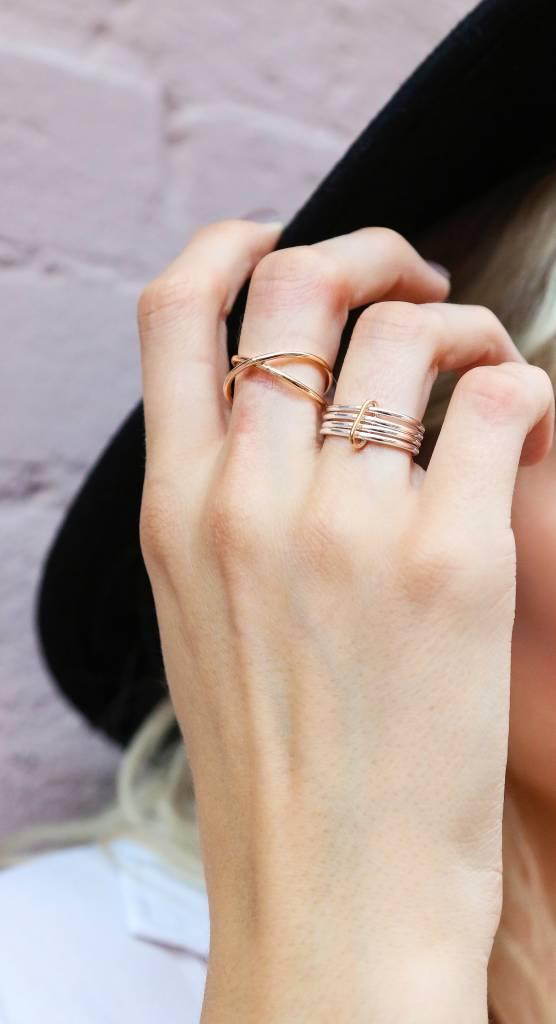 Chertova Celestial Ring, 14K gold, Made to Order