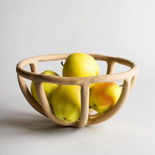 Virginia Sin Prong Fruit Bowl Stoneware Medium